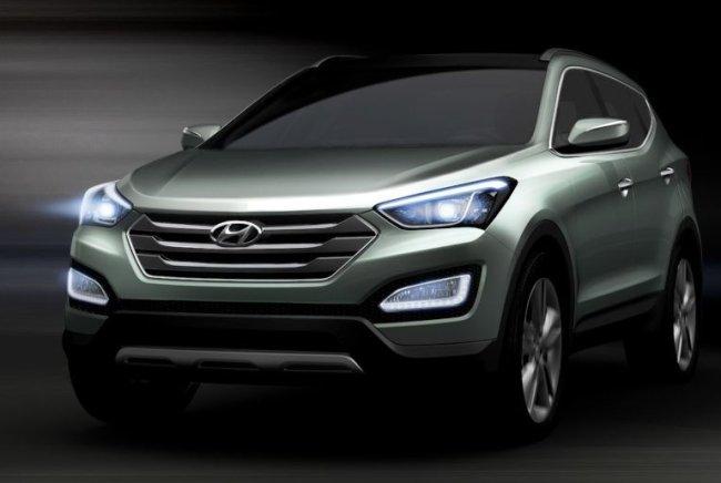 Novo Hyundai Santa Fé terceira geração 2013 frente escultura fluida