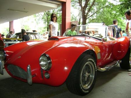 cooper cobra exposto no encontro de carros antigos no Galleria em Campinas