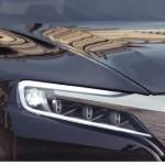 2012 Citroen DS9 que será exposto no salão de pequim detalhes da lanterna dianteira