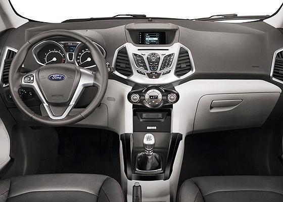 Novo Ford Ecosport imagem oficial do interior do novo modelo 2013