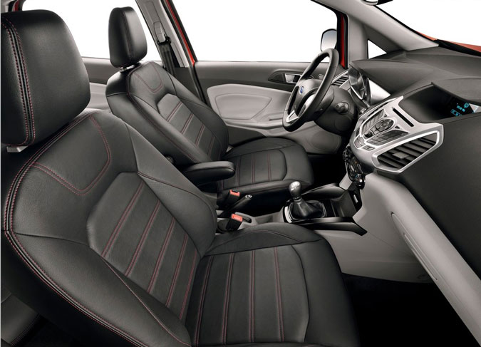 Novo Ford Ecosport imagem oficial do interior e bancos do novo modelo 2013 titanium
