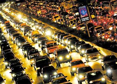 congestionamento em horario de pico em sao paulo