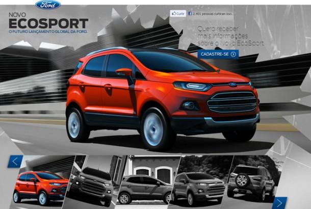 nova ecosport 2013 já aparece no site oficial da ford