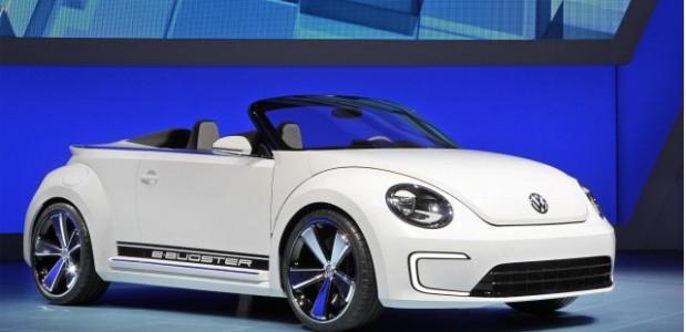 volkswagen e-bugster no stand da marca no salao de pequim 2012