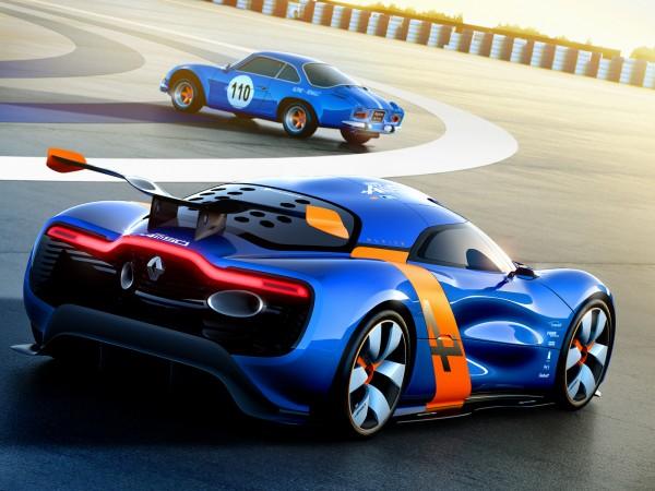 Novo Renault Alpine A110-50C super esportivo com motor V6 de 400cv foto traseira
