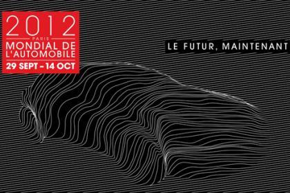 logo salão do automóvel de paris 2012 em setembro