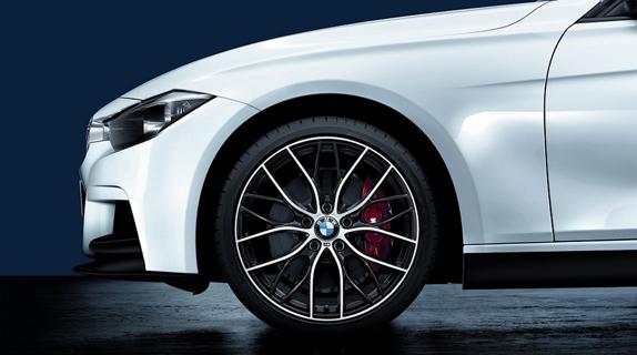Nova BMW serie 3 2013 visao da roda dianteira