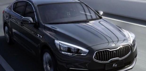novo kia k9 sedan de luxo que será vendido na coréia foto oficial