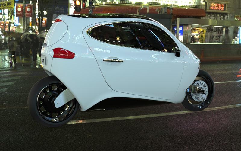 Lit motors modelo C1 2014 carro de duas rodas elétrico detalhes 4