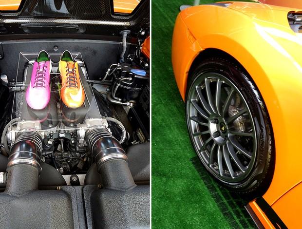 Carro da neymar Nike homenageia altleta com lamborghini laranja