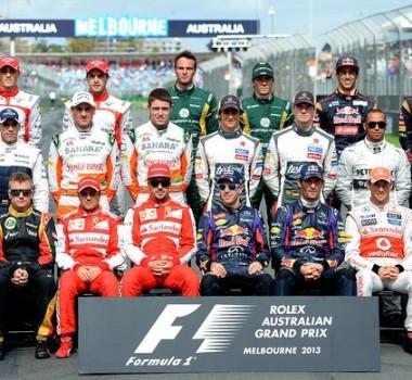 pilotos da formula 1 de melbourne em 2013